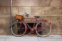 Old vintage Italian bicycle Stock Photography