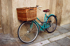 Old vintage Italian bicycle Stock Photos