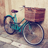 Old vintage Italian bicycle Stock Image