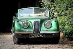 Old vintage jaguar car Royalty Free Stock Photo