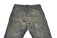Old vintage jeans royalty free stock image
