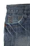 Old vintage jeans. Upper part Stock Photography