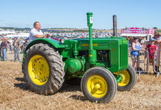 Old vintage John Deere Tractor at show Stock Photos