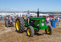 Old vintage John Deere 2020 Tractor at show Stock Images