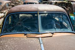 Old Vintage Junk yard Car, Rust Royalty Free Stock Images