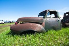 Old Vintage Junk yard Truck, Car, Rust Stock Image