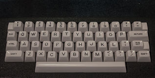 The old and vintage keyboard of a control panel Stock Photography