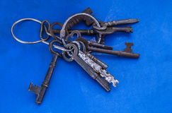 Old vintage keys Royalty Free Stock Photos