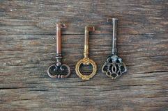 Old vintage keys Royalty Free Stock Images