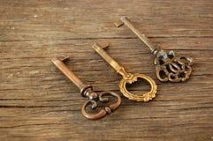 Old vintage keys Royalty Free Stock Photo