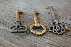 Old vintage keys Stock Image