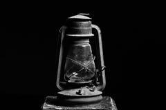 Old vintage lantern black background Stock Photos