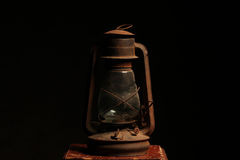 Old vintage lantern black background Royalty Free Stock Image