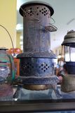 Old vintage lantern. Pressurized kerosene lamps have a gas generator and gas mantle; these are known as Petromax, Tilley lamps, or Coleman lamps, among other Stock Photos