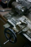 Old vintage lathe Stock Photography