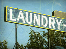 Old vintage laundry sign Stock Image