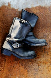 Old vintage leather boots Royalty Free Stock Photography