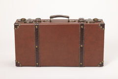 Old vintage leather suitcase Stock Photography