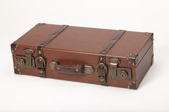 Old vintage leather suitcase Royalty Free Stock Photography