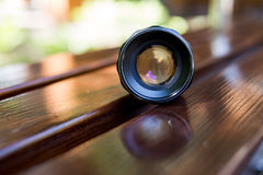 Old vintage lens Stock Photography