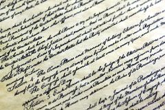 Old vintage letter with elegant handwriting Royalty Free Stock Photography