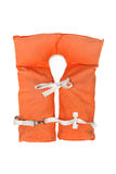 Old vintage life jacket. A close-up of a vintage life jacket Stock Photo