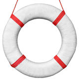 Old vintage lifebuoy isolated on a white background Stock Photography