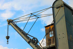 Old vintage lift crane Royalty Free Stock Photo