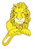Old vintage lion. Cartoon character royalty free illustration