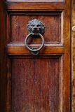 Old vintage lion head door knocker. Royalty Free Stock Image