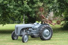 An old vintage little grey fergie ferguson tractor farm equipment Royalty Free Stock Photos