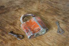 Old vintage  lock Royalty Free Stock Image