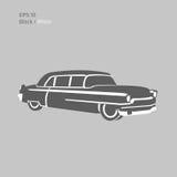 Old vintage luxury saloon car vector illustration. Luxury retro limousine. Old vintage luxury saloon car vector illustration Royalty Free Stock Photos