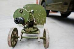 Old vintage machine gun, Maxim's system. Maxim gun Stock Photos