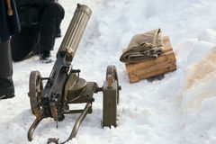 Old vintage machine gun Stock Photography