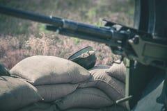Old vintage machine gun Royalty Free Stock Photos