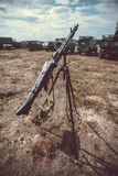Old vintage machine gun Royalty Free Stock Image