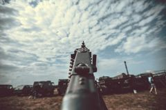 Old vintage machine gun Stock Photo