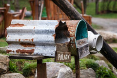 Old vintage mailboxes. Stock Photos