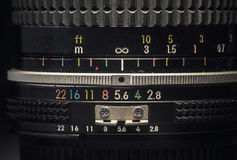 Old Vintage Manual Lens Stock Images