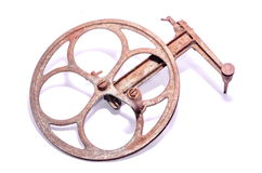 Old Vintage Manual Pulley Royalty Free Stock Photo