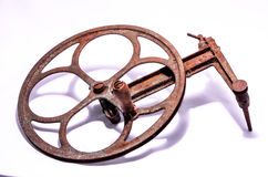 Old Vintage Manual Pulley Royalty Free Stock Photos