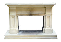 Old vintage marble or stone fire surround Royalty Free Stock Images