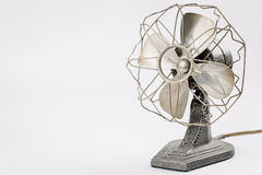 Old vintage metal fan  on white Stock Images