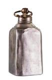 Old vintage metal flask Royalty Free Stock Photo