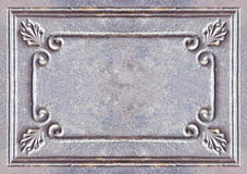 Old vintage  metal frame background. Old iron sheets Stock Photography
