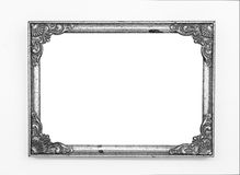 Old vintage metal frame. Old vintage ornate metal frame, isolated Royalty Free Stock Photography