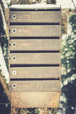 Old vintage metal made, traditional mailboxes / letter box Royalty Free Stock Photo