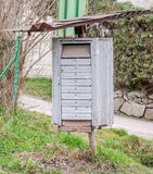Old vintage metal mailboxes for letters Stock Images