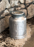 Old vintage metal milk churn or can Stock Photos